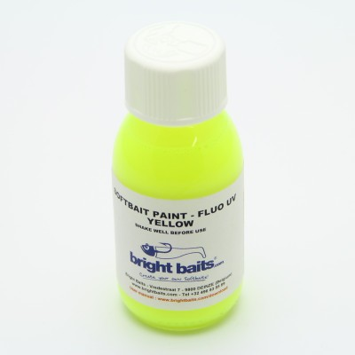 Softbait Paint - Fluo UV - Yellow - 60ml + pippet