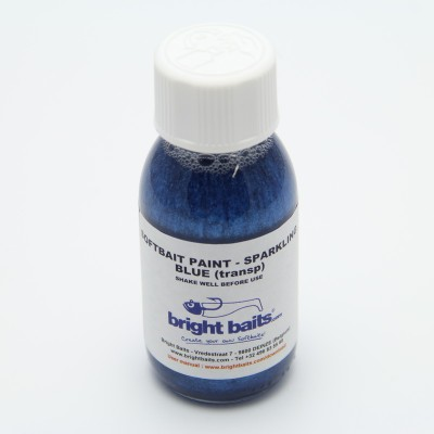 Softbait Paint - Sparkling - Blue Transparent - 60ml + pippet